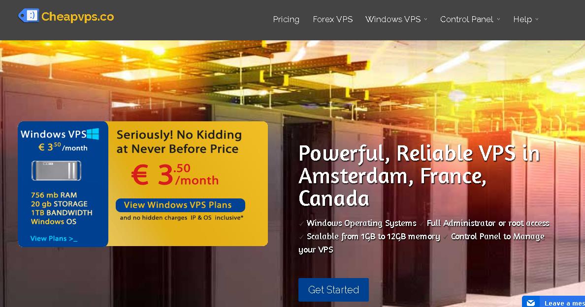 CheapVPS website